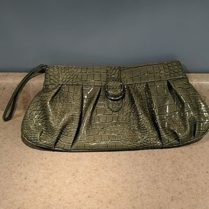 Apt 9 faux croc patent leather clutch wristlet